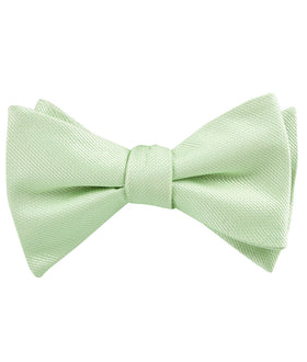 Light Sage Green Weave Self Bow Tie