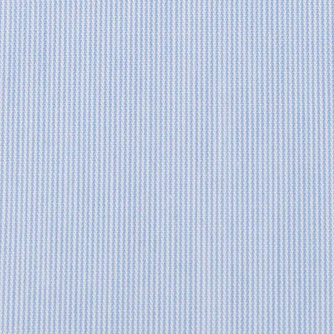 Light Blue Cotton Pinstripes Bow Tie