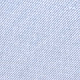 Light Blue Cotton Pinstripes Pocket Square