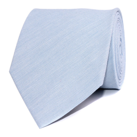 Light Blue Cotton Pinstripes Necktie