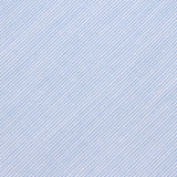 Light Blue Cotton Pinstripes Skinny Tie Fabric