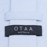 Light Blue Cotton Pinstripes Skinny Tie OTAA Australia