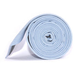 Light Blue Cotton Pinstripes Skinny Tie Side roll