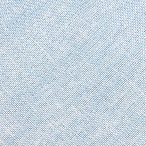 Light Blue Linen Chambray Pocket Square