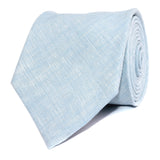 Light Blue Linen Chambray Necktie Front