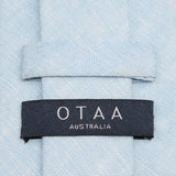 Light Blue Linen Chambray Necktie OTAA Australia