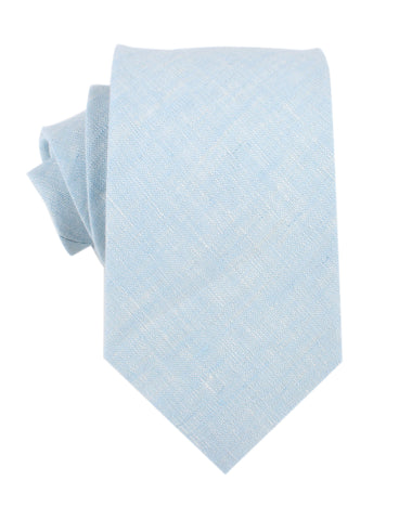 Light Blue Linen Chambray Necktie