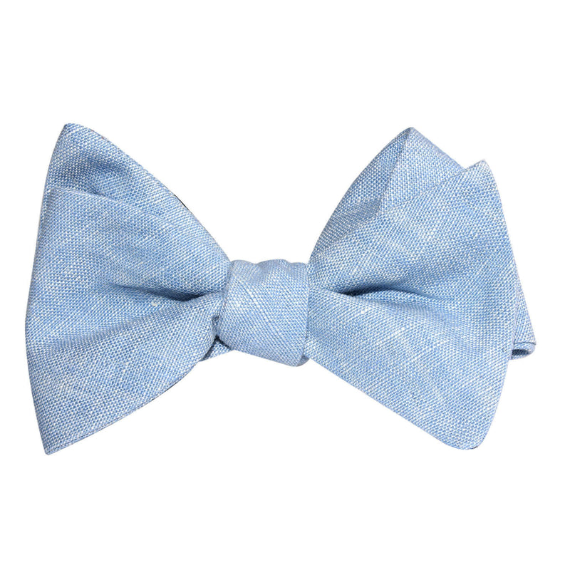 0525ed8221e0 Light Blue Linen Chambray Self Tie Bow Tie | Untied Ties Bowties ...