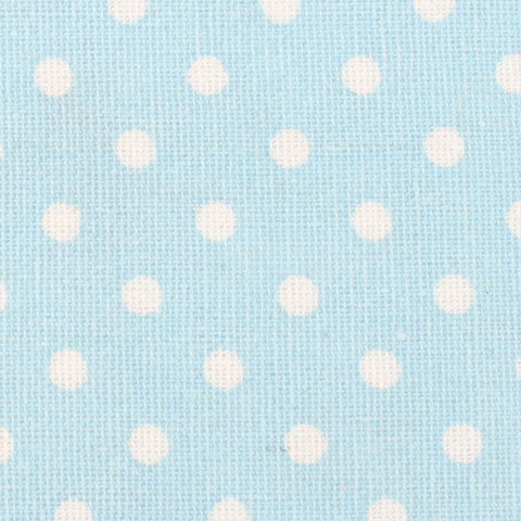 Light Blue Linen Polka Dot Bow Tie
