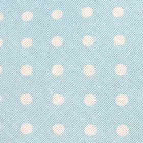 Light Blue Linen Polka Dot Pocket Square