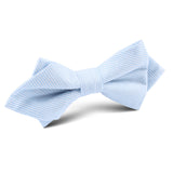Light Blue and White Pinstripes Cotton Diamond Bow Tie