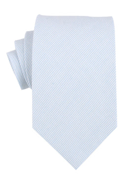 Light Blue and White Pinstripes Cotton Necktie