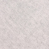 Light Grey Herringbone Linen Fabric Pocket Square L025