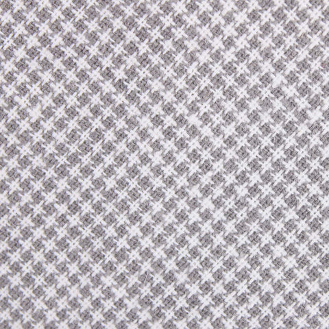 Light Grey Houndstooth Linen Bow Tie