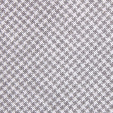 Light Grey Houndstooth Linen Fabric Necktie L180