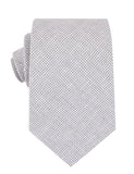 Light Grey Houndstooth Linen Necktie