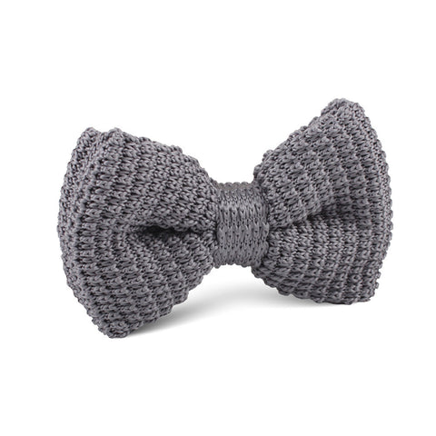 Light Grey Knitted Bow Tie