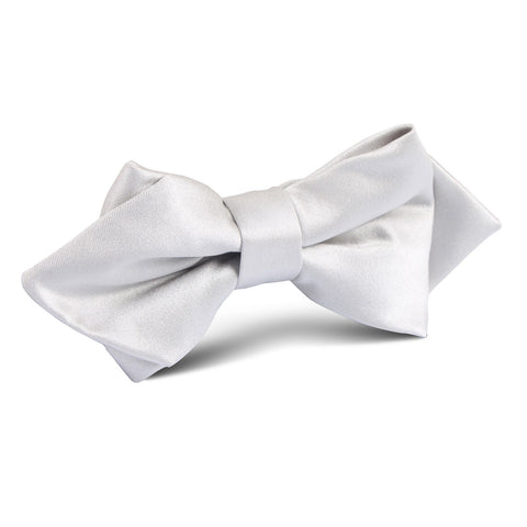 Light Grey Satin Diamond Bow Tie