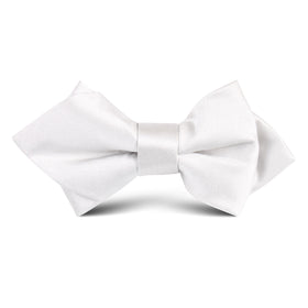 Light Grey Satin Kids Diamond Bow Tie