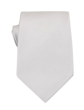 Light Grey Satin Necktie