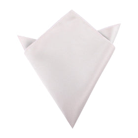 Light Grey Satin Pocket Square