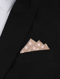 Light Grey with Large White Polka Dots Oxygen Three Point Pocket Square Fold