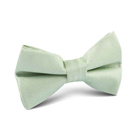 Light Mint Pistachio Green Kids Bow Tie