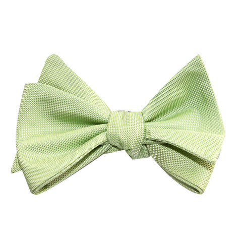 Light Mint Pistachio Green Self Tie Bow Tie