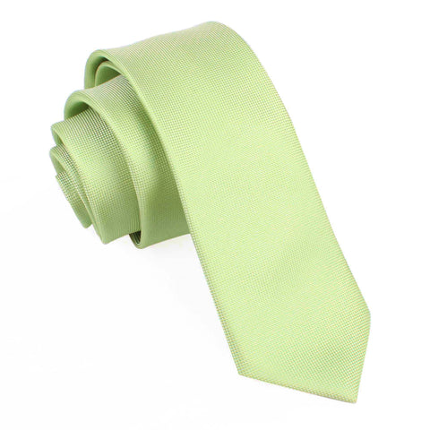 Light Mint Pistachio Green Skinny Tie