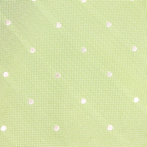 Light Mint Pistachio Green with White Polka Dots Bow Tie