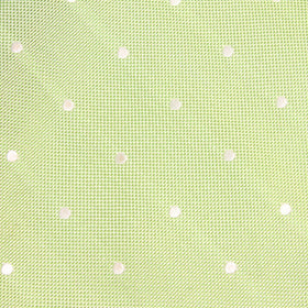 Light Mint Pistachio Green with White Polka Dots Pocket Square