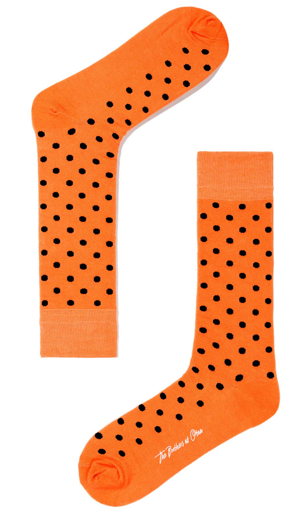 Light Orange Dot Socks