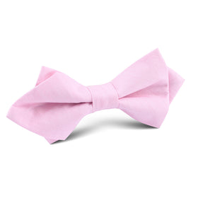 Light Pink Cotton Pinstripes Diamond Bow Tie