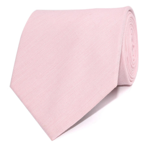 Light Pink Cotton Pinstripes Necktie