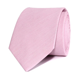 Light Pink Cotton Pinstripes Skinny Tie