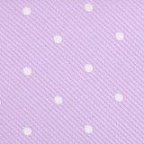 Light Purple with White Polka Dots Fabric Necktie M135