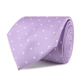 Light Purple with White Polka Dots Necktie
