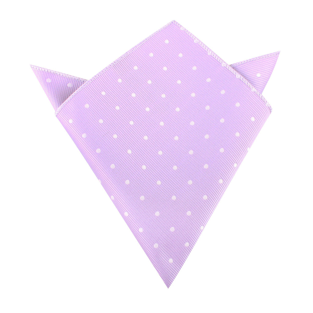 Light Purple with White Polka Dots Pocket Square