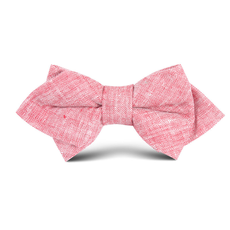 3c02d85ac1c9 Light Red Chambray Linen Kids Diamond Bow Tie | Kid Children Boys Baby  Bowties | OTAA