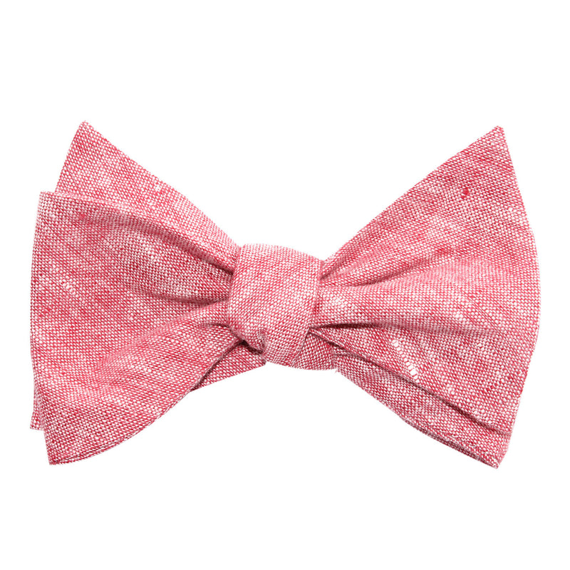 647216271710 Light Red Chambray Linen Self Tie Bow Tie | Untied Ties Bowties ...