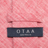 Light Red Chambray Linen Skinny Tie OTAA Australia