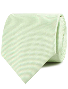 Light Sage Green Weave Necktie