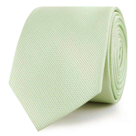 Light Sage Green Weave Skinny Tie