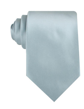 Light Silver Sage Satin Necktie