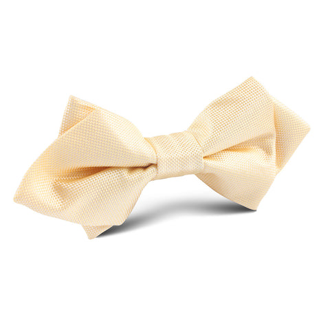 Light Yellow Diamond Bow Tie