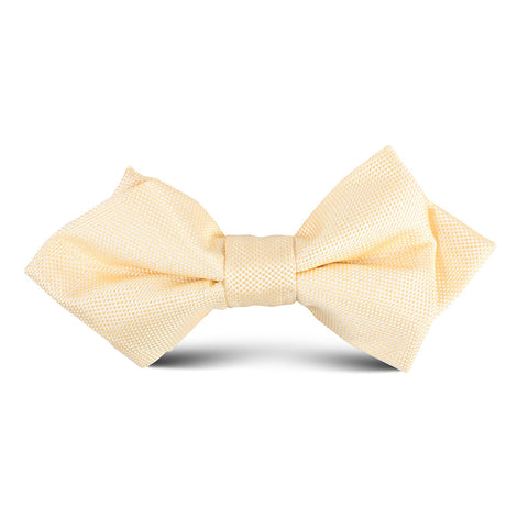 Light Yellow Kids Diamond Bow Tie