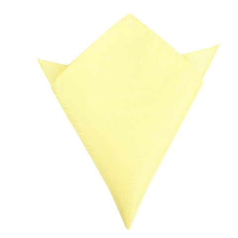 Light Yellow Pocket Square
