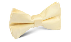 Light Yellow Satin Bow Tie