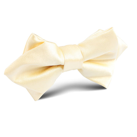 Light Yellow Satin Diamond Bow Tie