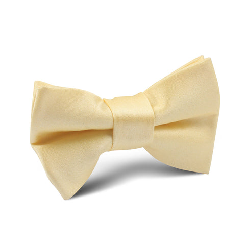 Light Yellow Satin Kids Bow Tie
